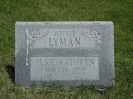 LYMAN, ELSIE KATHRYN - Henry County, Iowa | ELSIE KATHRYN LYMAN