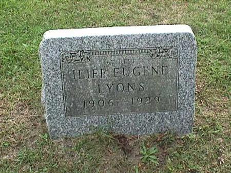 LYONS, ILIFF EUGENE - Henry County, Iowa   ILIFF EUGENE LYONS