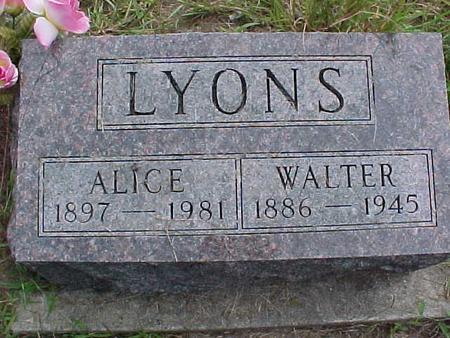 LYONS, ALICE - Henry County, Iowa | ALICE LYONS