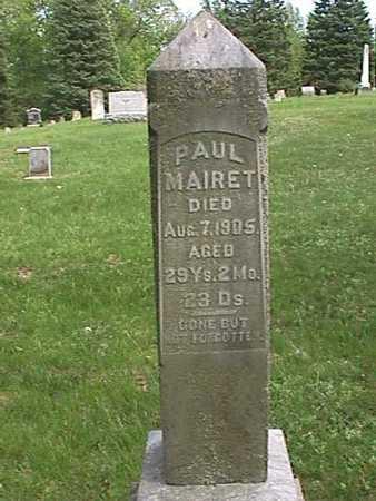 MAIRET, PAUL - Henry County, Iowa | PAUL MAIRET