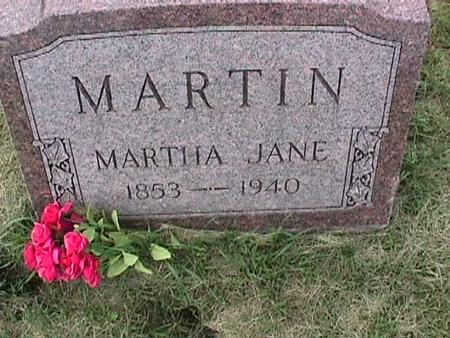 MARTIN, MARTHA JANE - Henry County, Iowa | MARTHA JANE MARTIN