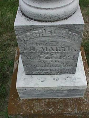 MARTIN, RACHEL ANN - Henry County, Iowa   RACHEL ANN MARTIN