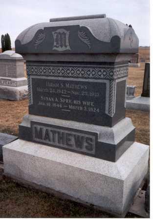 MATHEWS, HIRIAM SMITH - Henry County, Iowa | HIRIAM SMITH MATHEWS