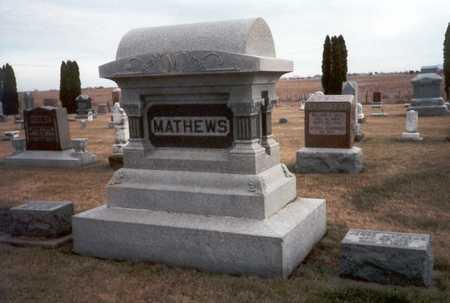 PATTERSON MATHEWS, CAROLINE E. - Henry County, Iowa   CAROLINE E. PATTERSON MATHEWS