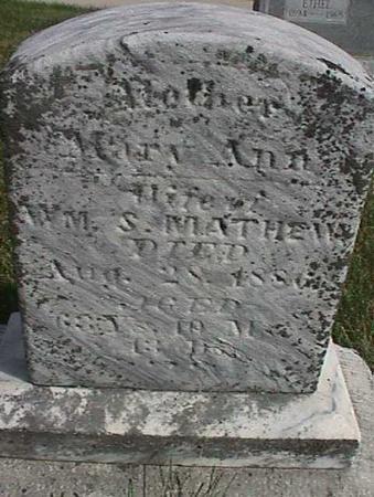 MATHEWS, MARY ANN - Henry County, Iowa | MARY ANN MATHEWS