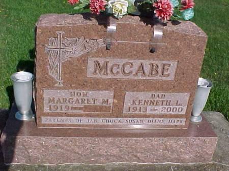 MCCABE, MARGARET M. - Henry County, Iowa   MARGARET M. MCCABE