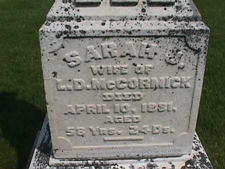 MCCORMICK, SARAH - Henry County, Iowa   SARAH MCCORMICK