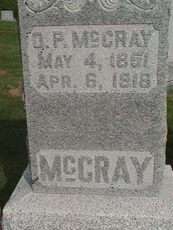 MCCRAY, O. P. - Henry County, Iowa | O. P. MCCRAY