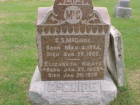 KIENTZ MCGUIRE, ELIZABETH - Henry County, Iowa | ELIZABETH KIENTZ MCGUIRE