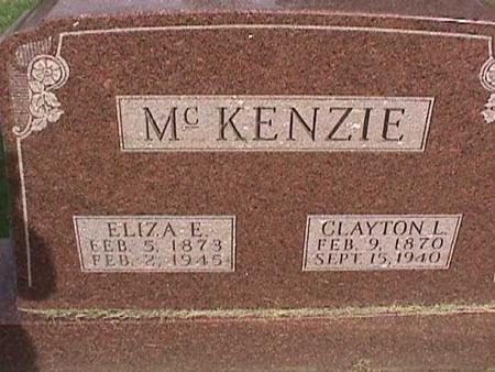 MCKENZIE, CLAYTON L - Henry County, Iowa   CLAYTON L MCKENZIE