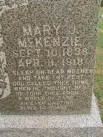 MCKENZIE, MARY J - Henry County, Iowa | MARY J MCKENZIE
