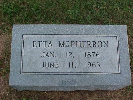 MCPHERRON, ETTA - Henry County, Iowa | ETTA MCPHERRON
