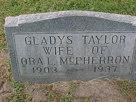TAYLOR MCPHERRON, GLADYS - Henry County, Iowa | GLADYS TAYLOR MCPHERRON