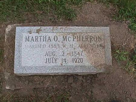 MCPHERRON, MARTHA - Henry County, Iowa | MARTHA MCPHERRON