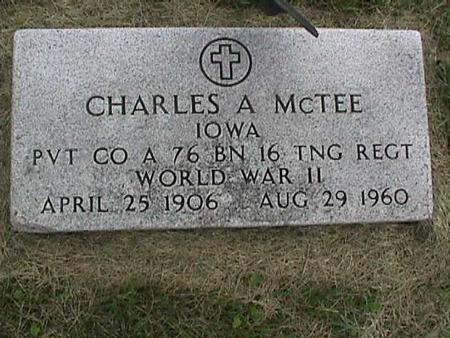 MCTEE, CHARLES - Henry County, Iowa   CHARLES MCTEE