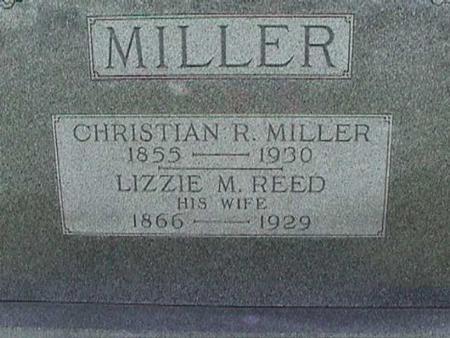 MILLER, LIZZIE - Henry County, Iowa | LIZZIE MILLER