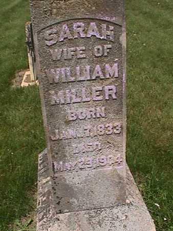 MILLER, SARAH - Henry County, Iowa   SARAH MILLER