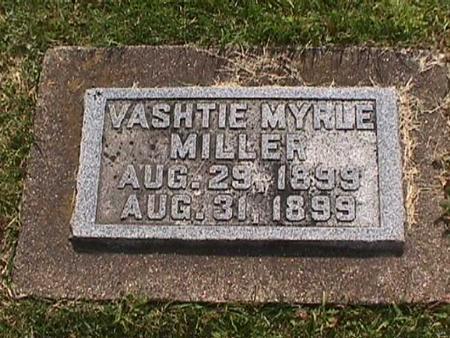 MILLER, VASHTIE MYRLE - Henry County, Iowa | VASHTIE MYRLE MILLER
