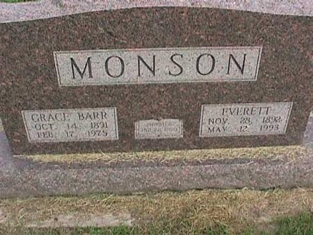 BARR MONSON, GRACE - Henry County, Iowa | GRACE BARR MONSON