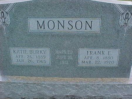 MONSON, FRANK E - Henry County, Iowa | FRANK E MONSON