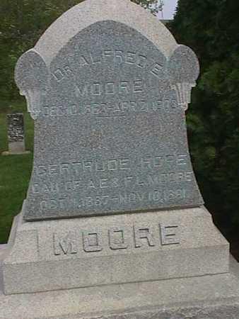 MOORE, ALFRED E. - Henry County, Iowa   ALFRED E. MOORE
