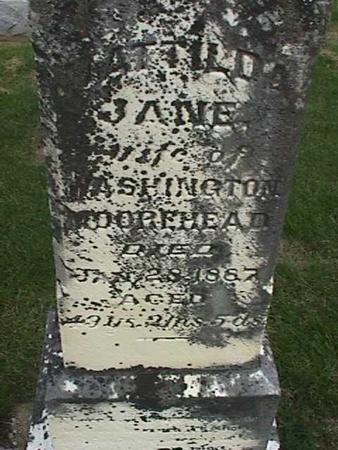 MOOREHEAD, MATILDA JANE - Henry County, Iowa   MATILDA JANE MOOREHEAD