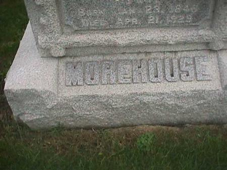 MOREHOUSE, FAMILY - Henry County, Iowa | FAMILY MOREHOUSE