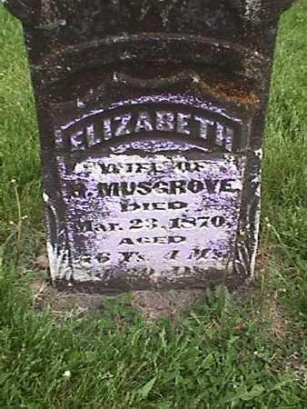 MUSGROVE, ELIZABETH - Henry County, Iowa | ELIZABETH MUSGROVE