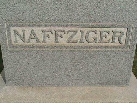 NAFFZIGER, FAMILY STONE - Henry County, Iowa | FAMILY STONE NAFFZIGER