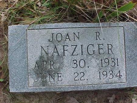 NAFZIGER, JOAN R - Henry County, Iowa | JOAN R NAFZIGER