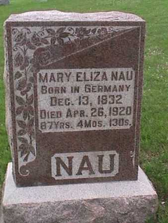 NAU, MARY - Henry County, Iowa   MARY NAU