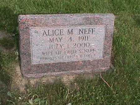 SINN NEFF, ALICE M. - Henry County, Iowa | ALICE M. SINN NEFF