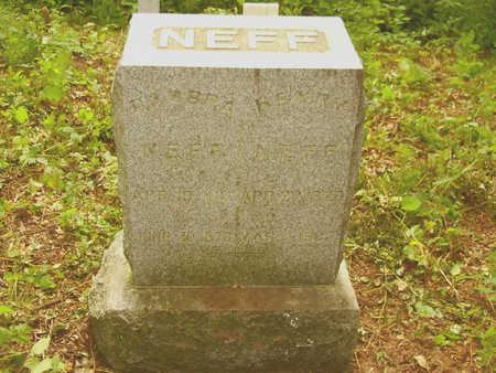 NEFF, BARBRA - Henry County, Iowa   BARBRA NEFF