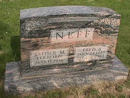 NEFF, ESTHER M. - Henry County, Iowa | ESTHER M. NEFF