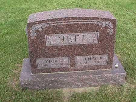 NEFF, LYDIA (NORA) E. - Henry County, Iowa   LYDIA (NORA) E. NEFF