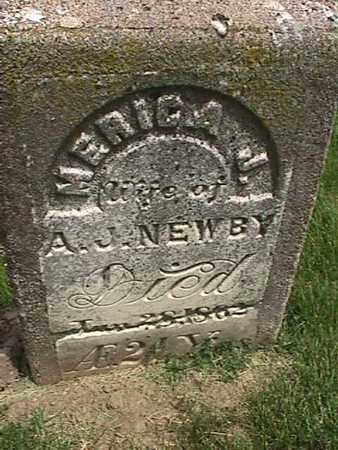 NEWBY, MERICA J - Henry County, Iowa   MERICA J NEWBY