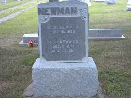 VAN SYOC NEWMAN, HANNAH JANE - Henry County, Iowa | HANNAH JANE VAN SYOC NEWMAN