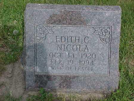 NICOLA, EDITH C. - Henry County, Iowa | EDITH C. NICOLA