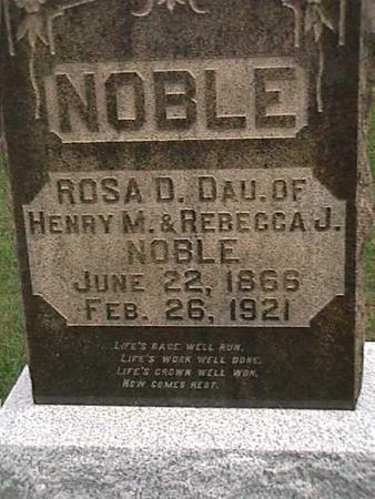 NOBLE, ROSA - Henry County, Iowa | ROSA NOBLE