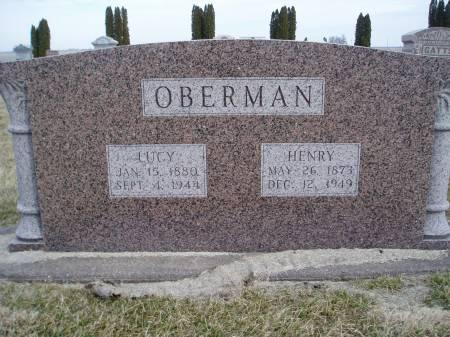 OBERMAN, LUCY - Henry County, Iowa | LUCY OBERMAN
