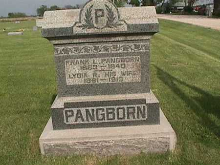 PANGBORN, LYDIA - Henry County, Iowa | LYDIA PANGBORN