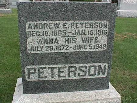PETERSON, ANDREW E - Henry County, Iowa   ANDREW E PETERSON