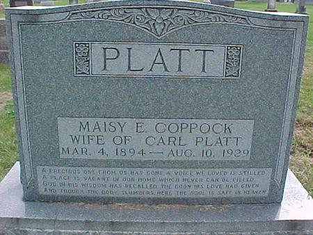COPPOCK PLATT, MAISY E. - Henry County, Iowa | MAISY E. COPPOCK PLATT