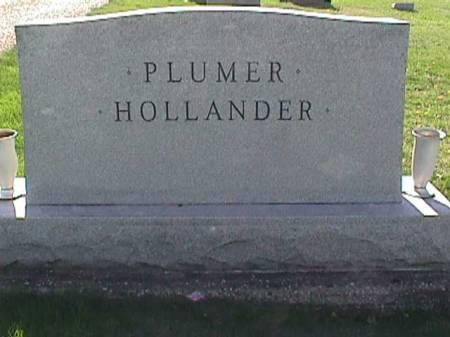 PLUMER - HOLLANDER, FAMILY STONE - Henry County, Iowa   FAMILY STONE PLUMER - HOLLANDER