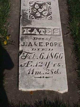 POPE, KATE S - Henry County, Iowa   KATE S POPE