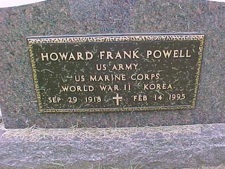 POWELL, HOWARD FRANK - Henry County, Iowa   HOWARD FRANK POWELL