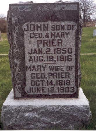 PRIER, MARY POLLY - Henry County, Iowa | MARY POLLY PRIER