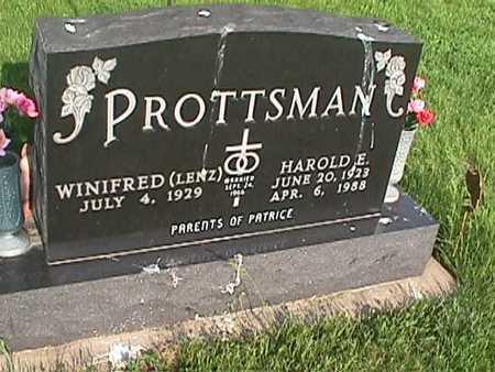 LENZ PROTTSMAN, WINIFRED - Henry County, Iowa   WINIFRED LENZ PROTTSMAN