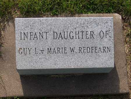 REDFEARN, INFANT DAUGHTER - Henry County, Iowa   INFANT DAUGHTER REDFEARN