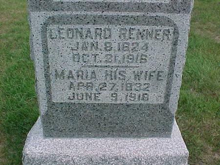 RENNER, MARIA - Henry County, Iowa | MARIA RENNER